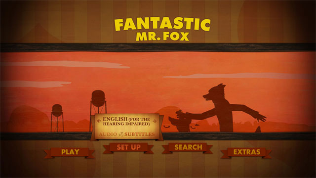 fantastic mr  fox  u2013 dvd and bluray menu ui design and